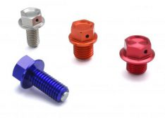MAGNETIC DRAIN BOLT M14X14-P1.5 RED