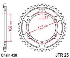 JT SPROCKETS REAR STEEL 60T