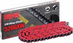 RK Racing 520 GXW Chain RED Rivet Aprilia RS 125 '92-'11