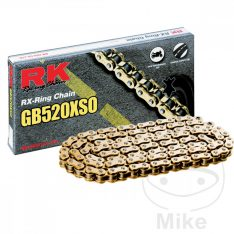 RK X-RING CHAIN GOLD GB520XSO/112 links with hollow rivet link