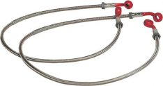 Melvin BRAIDED BRAKE HOSES FRONT 2 PCS RED