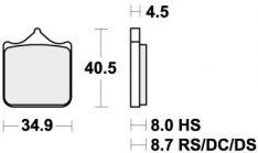 870DC BRAKE PADS ORGANIC RACING