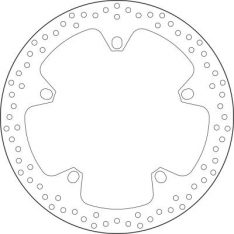 BRAKE DISC 168B407D7 5 MM THICKN..