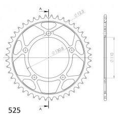 SPROCKET REAR STEEL 44T BLACK 525