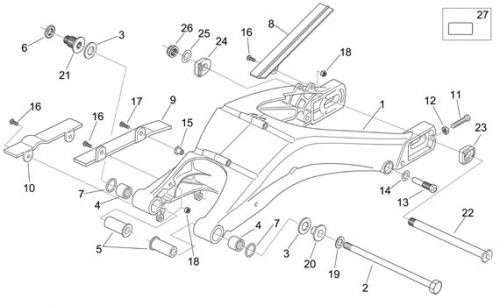RS 125 Swing arm